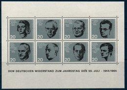 RFA 1964 Bloc  20ème Anniversaire Du 20 Juillet 1944   BF N°YT 3 ** MNH - [7] Federal Republic