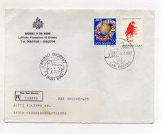 San Marino - 1982 - Busta FDC - Con Triplo Annullo - Viaggiata Con Raccomandata - (FDC19445) - FDC