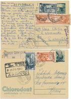 3 CARTOLINE POSTALI  ESPRESSO O RACCOMANDATE - 6. 1946-.. Repubblica