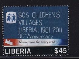 Liberia 2012, SOS Childrens Villages, Used, Short Perfs - Liberia