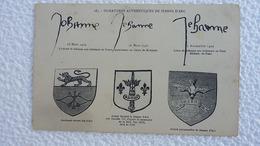 CPA 1910 - Jeanne D'arc - Signatures Authentiques -  Sté Secours Aux Bléssés Militaires - Ansichtskarten