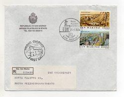 San Marino - 1984 - Busta FDC - Con Doppio Annullo - Viaggiata Con Raccomandata - (FDC19446) - FDC