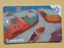 T6 - TELECARD SERBIA, CHIP TELECOM - MODERN ART PAINTING, MUSEUM, MUSEE BELGRADE - Joegoslavië