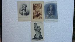 4 CPA  - Jeanne D'arc - Les Voix - Dite La Pucelle - Vouant Au Salut De Son Pays - Au Bucher - Ansichtskarten