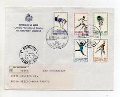 San Marino - 1980 - Busta FDC - Con Triplo Annullo - Viaggiata Con Raccomandata - (FDC19448) - FDC