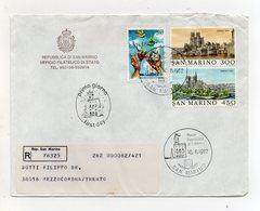 San Marino - 1982 - Busta FDC - Con Quadruplo - Viaggiata Con Raccomandata - (FDC19449) - FDC