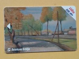 T7 - TELECARD SERBIA, CHIP TELECOM - MODERN ART PAINTING, MUSEUM, MUSEE BELGRADE - Yougoslavie