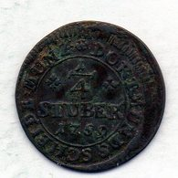GERMAN STATES - DORTMUND, 1/4 Stuber, Copper, Year 1759, KM #109 - [ 1] …-1871 : Duitse Staten