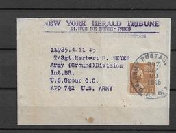 1945 USA  News Paper Wrapper WW2 - Vereinigte Staaten