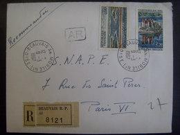 18131- Lettre Recommandée Avec AR (au Tarif) Obl. Beauvais Annexe Mobile N° 1 - Poststempel (Briefe)
