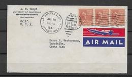 1941 USA  Letter To Costa Rica - Briefe U. Dokumente