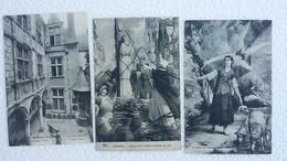 3 CPA  - Jeanne D'arc - Brulée à Rouen - La Vision De Jeanne D'Arc -Musée De Jeanne D'Arc - Ansichtskarten