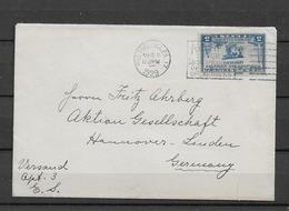1929 USA Airmail To Germany - Briefe U. Dokumente