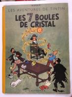 TINTIN HERGE LES 7 BOULES DE CRISTAL E.O. 1948 BELGIQUE  TITRE EN BLUE B2 - Tintin