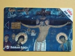 T8 - TELECARD SERBIA, CHIP TELECOM, CHURCH, EGLISE, MONASTERY STUDENICA, RASPECE, CHRIST - Joegoslavië