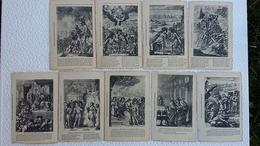 9 CPA  - Jeanne D'arc - Collection De E.Parquis Sur La Vie Et Les Rapports Avec Le Roi Charles VII - Ansichtskarten