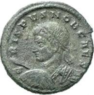 IMPERIO ROMANO. CRISPO. FOLLIS 19 Mm. VIRTVS EXERCIT. ROMAN IMPERIAL COIN - 7. El Imperio Christiano (307 / 363)
