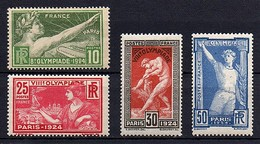 JEUX OLYMPIQUES DE PARIS - 1924 -  Série Du N° 183 ** à 186 ** - Neufs
