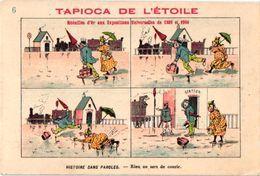 B.D. 19 Cartes Litho Chromos TRES ANCIENS C1890, Comme Bandes Dessinés, Publicitaires Tapioca;  COURBE ROUZET - Livres, BD, Revues