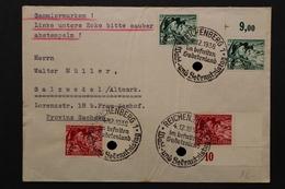 Deutsches Reich, MiNr. 684-685 Y, 12 Pf Ecke Re. Unten, Bedarfsbeleg - Briefe U. Dokumente