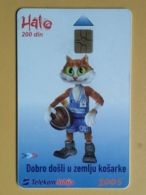T9- TELECARD SERBIA, CHIP TELECOM, SPORT, BASKETBALL LAND - Joegoslavië