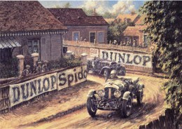 24 Heures Du Mans 1929  -  Bentley Speed Six (Birkin)  -  Stutz (Chiron)  -   Art Carte Postale Modern - Le Mans