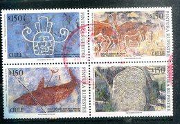CHILI - Y&T 1250 à 1253 En Bloc De 4 (Peintures) - Chili