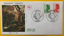 9896 - FDC Emission Liberté 02.01.1990 - France