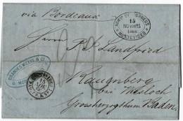 "1866, "" Montevideo "" Uruguay ,  Brief Nach Baden , A2976 - Baden"