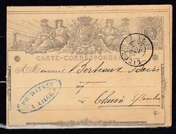 Postkaart Van Liege Naar Thuin - Entiers Postaux