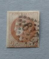 2 Cts BORDEAUX N°40A OBLITÉRÉ - 1870 Bordeaux Printing