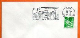 VITRE VILLE MEDIEVALE  1962 Lettre Entière N° MN 541 - Marcophilie (Lettres)