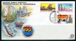 INDONESIE: ZB 1244/1246 FDC 1985 100 Jaar Olieindustrie - Indonesië