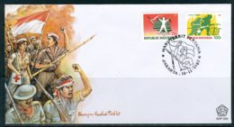 INDONESIE: ZB 1302/1303 FDC 1987 Vrouwen Die Deelnamen Aan De Strijd Voor Onafhankelijkheid - Indonesië