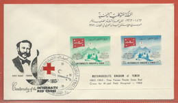 YEMEN LETTRE FDC DE 1963 CROIX ROUGE - Jemen
