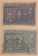 Romania1935, Emblemes,coat Of Arms, Wappen Rumanien,Grece, Iugoslavia,Turkey, Bfx4 - Variedades Y Curiosidades
