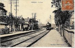 E5 Gard VENEJAN Arrivée Du Train En Gare 1933 - Altri Comuni