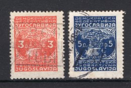 JOEGOSLAVIE Yt. 479/480° Gestempeld 1947 - Gebraucht