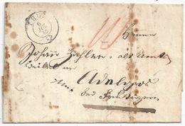 Faltbrief  Thun - Avenches ?         1853 - 1854-1862 Helvetia (Non Dentellati)