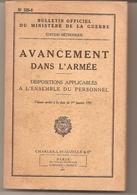 Bulltin Officiel Ministère Guerre : Avancement Dans L'armée 1951 - Lavauzelle - Boeken