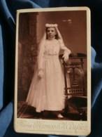 Photo CDV  Marnas & Dufour à St Etienne  Communiante  CA 1890 - L481F - Fotos
