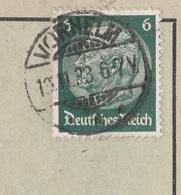 Deutsches Reich Karte Mit Tagesstempel Vorhelm 1933 Stadt Ahlen Lk Warendorf - Brieven En Documenten