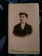 Photo CDV  Maisonneuve à Nogent Le Rotrou  Portrait Jeune Garçon  CA 1900 - L481F - Fotos