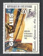 IVORY COAST  COTE D'IVOIRE 1993 BIENNALE,PLASTIC ARTS MNH - Ivoorkust (1960-...)