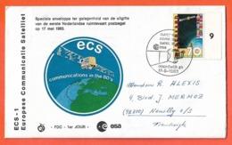 PAYS BAS LETTRE FDC DE 1983 ESA COSMOS - FDC
