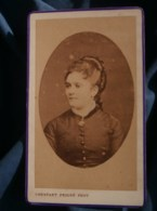 Photo CDV  Peigné à St Nazaire  Portrait Jeune Femme  CA 1875-80 - L481F - Fotos