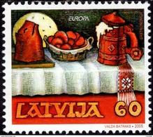 Latvia - 2005 - Europa CEPT - Gastronomy - Mint Stamp - Lettonia