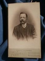 Photo CDV  Verron à St Etienne  Portrait Homme  Yeux Clairs  CA 1900 - L481F - Fotos