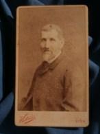 Photo CDV  Victoire à Lyon  Portrait Homme âgé  Barbe Blanche  CA 1890 - L481F - Fotos