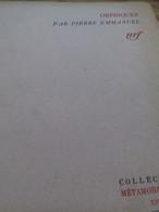Orphiques PIERRE EMMANUEL Gallimard 1942 - Poetry